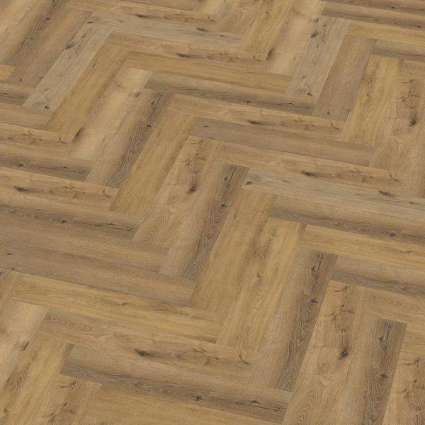 pvc visgraat Floor Life Yup Herringbone Dryback Dark Oak