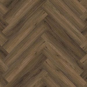 pvc visgraat Floor life Yup Herringbone Dryback Warm Brown