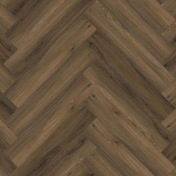 pvc visgraat Floor life Yup Herringbone Dryback Warm Brown
