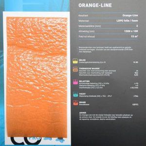Orange line ondervloer