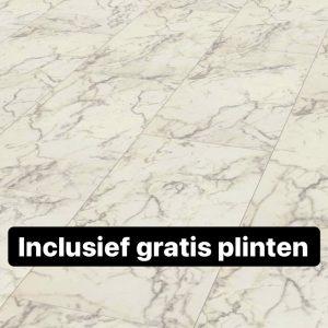 laminaat tegel vloeren Falquon Carrara Marmor